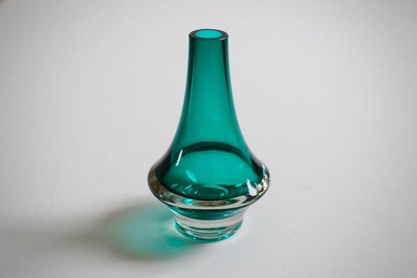 Mid Century Finnish Glass Vase By Erkkitapio Siiroinen For Riihimen