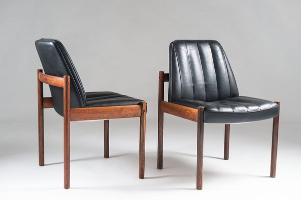 Unike Rosewood & Leather Easy Chair by Sven Ivar Dysthe for Dokka Møbler NJ-67