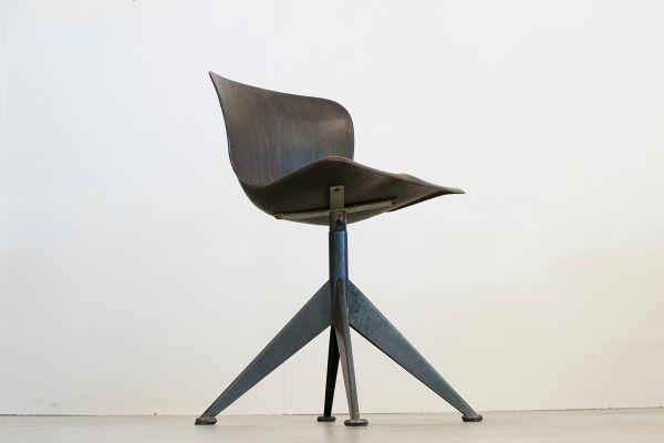 Chaise de bureau mid century modèle fff de pagholz flötotto en