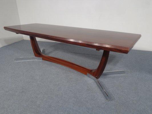 Mid Century Rosewood U0026 Chrome Coffee Table, 1960s 2