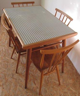 Table En Formica Et 4 Chaises Par Lucian Ercolani Pour Ercol 1960s