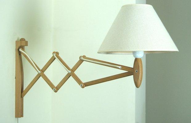 klint lighting lamella vintage model 324 oak wall lamp by erik hansen for le klint sale