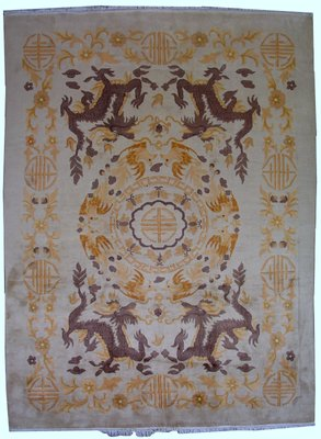 Vintage Art Deco Handmade Chinese Rug 1930s For Sale At Pamono