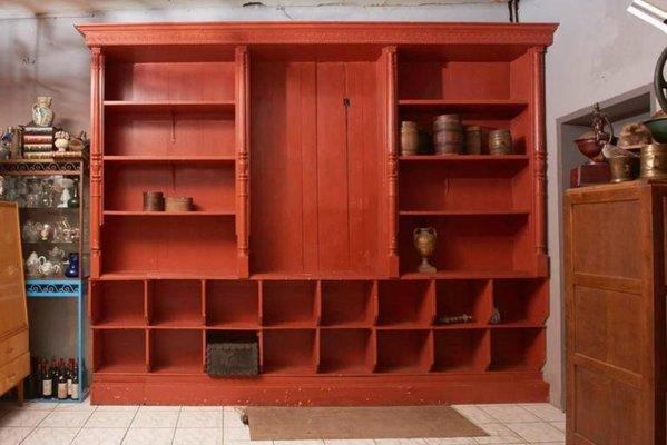 Antique Large Belgian Red Display Cabinet 2