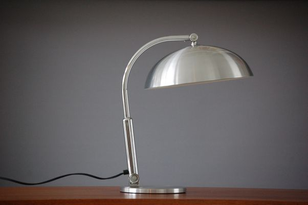 Lampada da scrivania in argento di h.busquet per hala zeist olanda