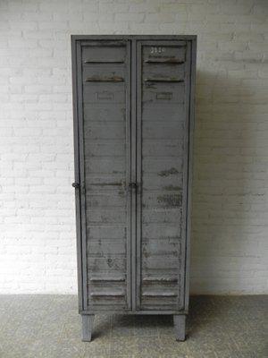 Industrial Steel Locker with? 2 Doors 1950s 1 & Industrial Steel Locker with? 2 Doors 1950s for sale at Pamono