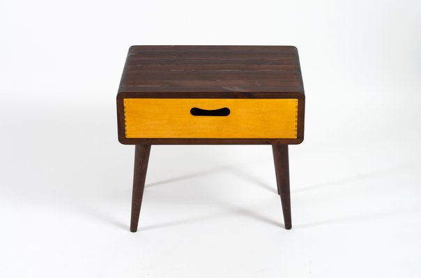 Mid Century Side Table With Drawer