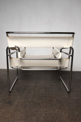 Charmant Vintage White Wassily Chair By Marcel Breuer 3