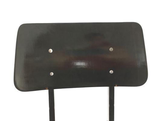 Stapelbarer Schwarzer Industrie Stuhl von Galvanitas