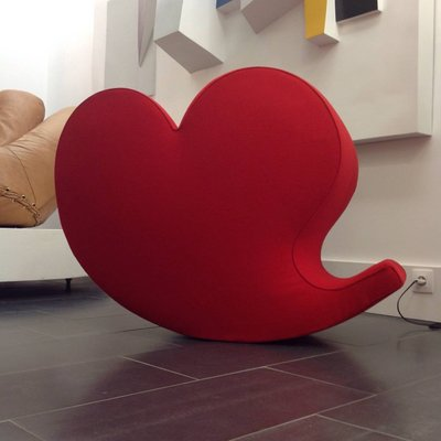 Incredible Vintage Soft Heart Rocking Chair By Ron Arad For Moroso Inzonedesignstudio Interior Chair Design Inzonedesignstudiocom