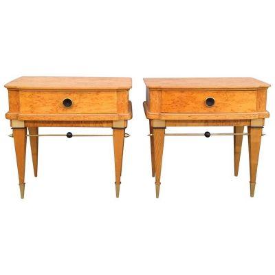 Comodini in legno di betulla, Francia, anni \'60, set di 2 in vendita ...