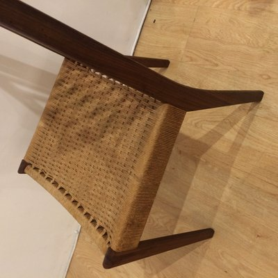 Mid Century Teak And Cane Chairs, 1960s, Set Of 4 7