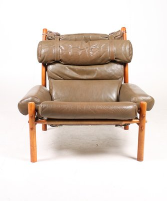 Vintage Inca Lounge Chair By Arne, Arne Norell Inca Chair
