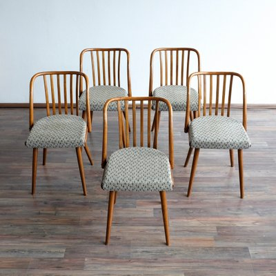 Vintage Dining Chairs From Ton 1960s Set Of 5 For Sale At Pamono