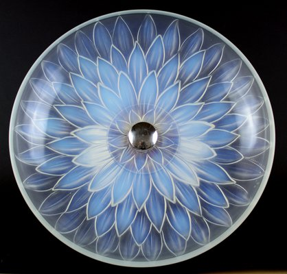 Fantastic Art Deco Opalescent Glass Table Centerpiece From Etling 1930S Home Interior And Landscaping Elinuenasavecom