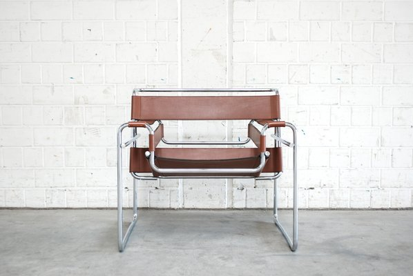 Attirant Vintage B3 Wassily Chair In Brandy Cognac Leather By Marcel Breuer For  Gavina 1