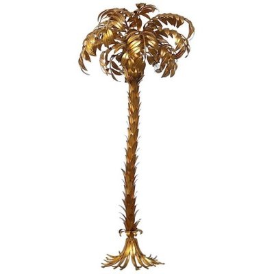 c8b939eecefbc Vintage Large Gilt Metal Palm Floor Lamp by Hans Kogl for sale at Pamono