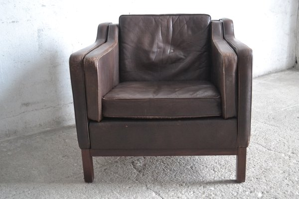Danish Leather Armchair By Mogens Hansen For Sale At Pamono