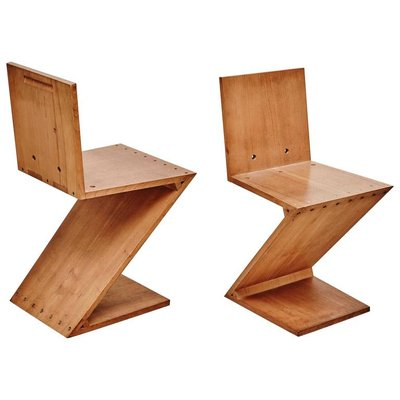 Cool Zig Zag Chair By Gerrit Rietveld For Metz Co 1968 Short Links Chair Design For Home Short Linksinfo