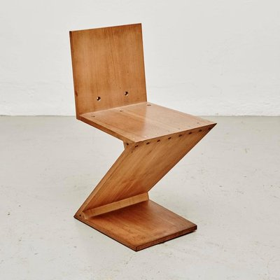 Fine Zig Zag Chair By Gerrit Rietveld For Metz Co 1968 Short Links Chair Design For Home Short Linksinfo