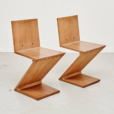 Zig Zag Chair By Gerrit Rietveld For Metz Co 1968 For Sale At Pamono