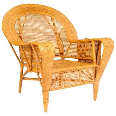 Vintage Wicker Chair by Kay Fisker for R. Wengler 1 - Vintage Wicker Chair By Kay Fisker For R. Wengler For Sale At Pamono