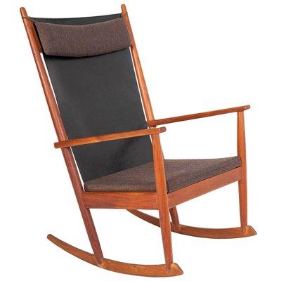 newest 28008 f03df Vintage Rocking Chair in Teak by Hans Olsen