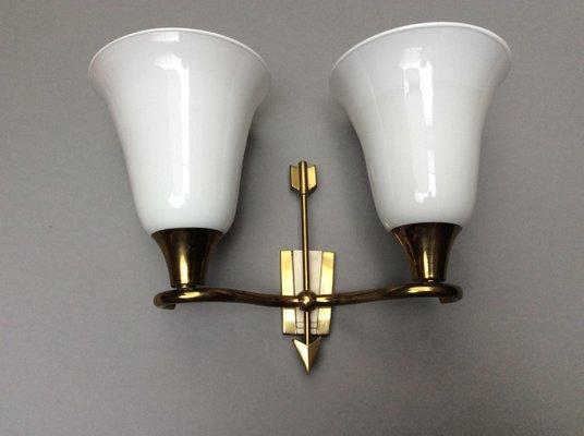 Lampade da parete a doppio braccio di emilio lancia italia anni