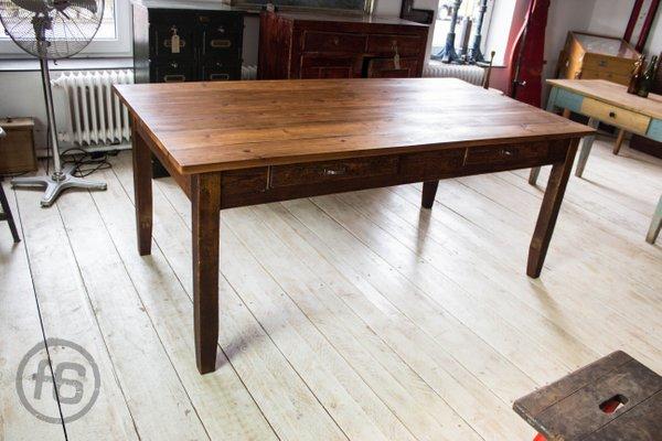 Antiker Esstisch Aus Kiefernholz Bei Pamono Kaufen