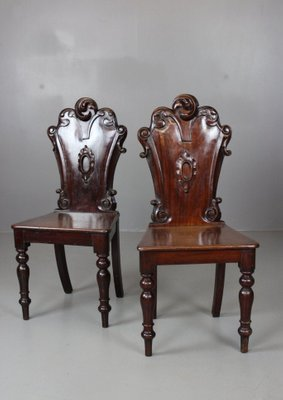 Antique Victorian Hall Chairs Set Of 2 For Sale At Pamono