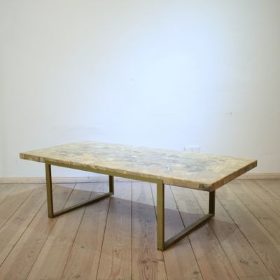 Mid Century Mosaic U0026 Marble Coffee Table, 1970s 1