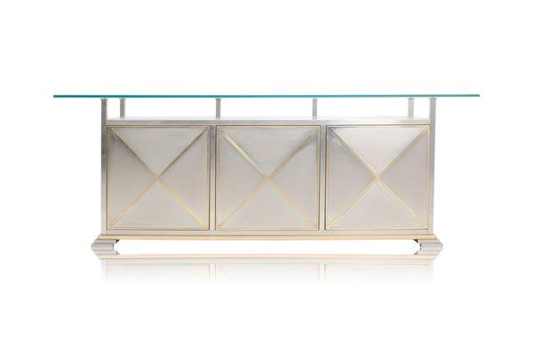 Credenza Con Vetro : Credenza con ripiano in vetro di maison jansen francia vendita