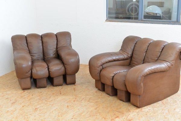 Vintage DS 600 Tatzelwurm Leather Sofa Set by Berger, Peduzzi-Riva ...