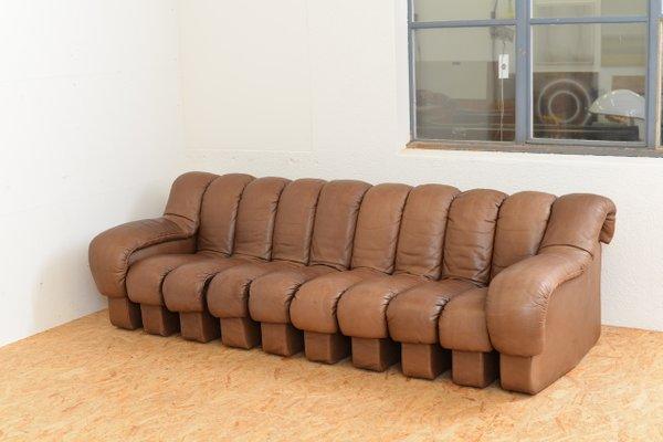Magnificent Vintage Ds 600 Tatzelwurm Leather Sofa Set By Berger Peduzzi Riva Ulrich Vogt For De Sede Home Remodeling Inspirations Gresiscottssportslandcom
