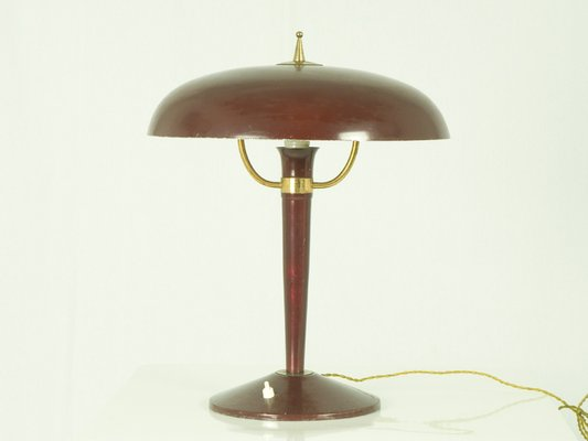 Vintage Italian Cast Iron Table Lamp 1950s For Sale At Pamono