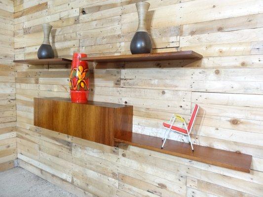 Mensole a muro banz bord mid century in palissandro anni in