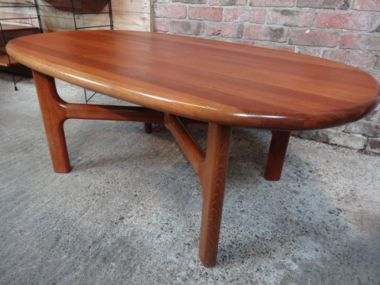 Mid Century Solid Teak Coffee Table From Dyrlund 1970s