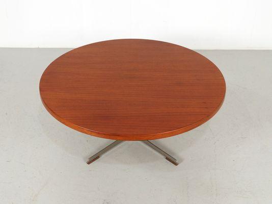 Mid Century Round Teak Coffee Table, 1960s 2