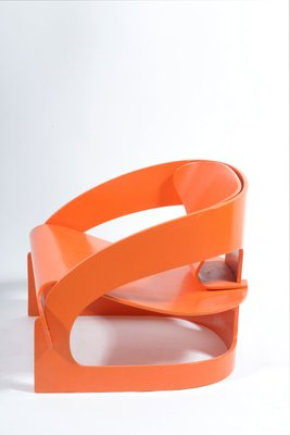 Orange Armchair By Joe Colombo For Kartell, 1964 2