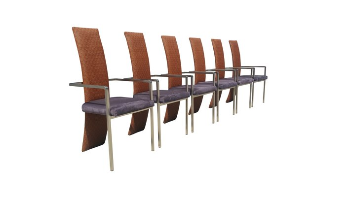 Mid century modern dining chairs from belgochrom set of 6 for sale