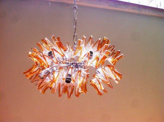 Kronleuchter Aus Murano Glas ~ Floraler mid century sputnik kronleuchter aus murano glas von