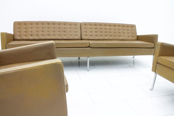 4-Seater Leather Model 462S Sofa by Roland Rainer, 1956