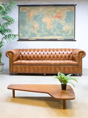 Vintage Leather Chesterfield Sofa 2