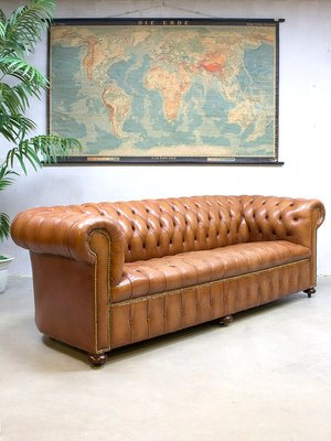 Vintage Leather Chesterfield Sofa 1
