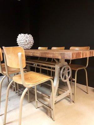 table de salle manger vintage industrielle 2