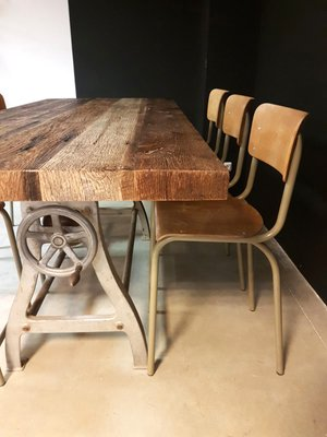 industrial dining table. Vintage Industrial Dining Table 3 L