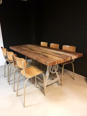 Vintage Industrial Dining Table 1