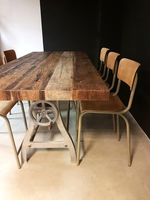 Amazing Vintage Industrial Dining Table 4