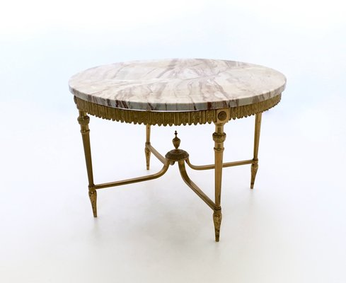 brass coffee table. Italian Marble And Brass Coffee Table, 1950s 1 Table