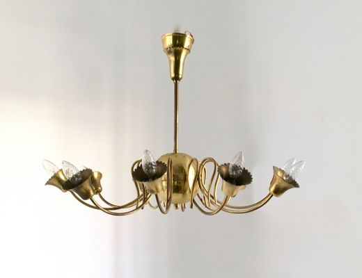 Vintage Italian Br Ceiling Light 1950s